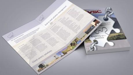 VSC Security Folded Brochure Design
