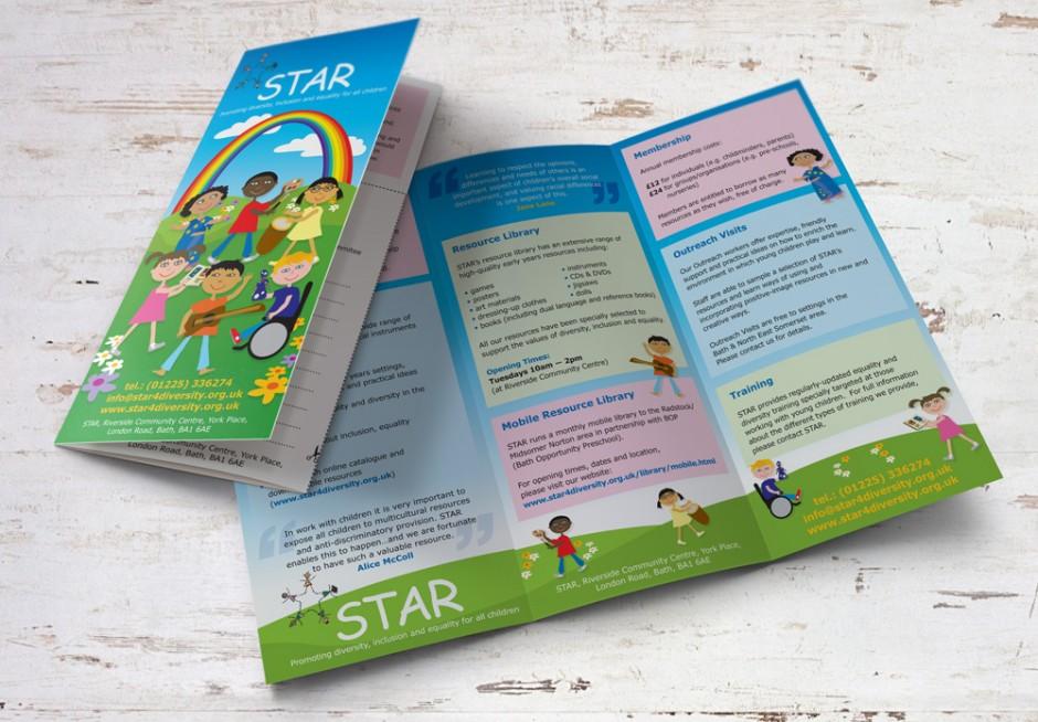 star diversity illustrations  u0026 trifold leaflet design and print