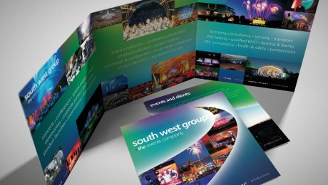Events Company Glossy Folded Brochure design