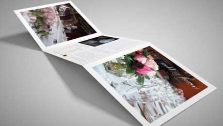 Wedding Flowers folded leaflet design