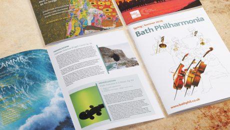 Bath Philharmonia concert programme designs