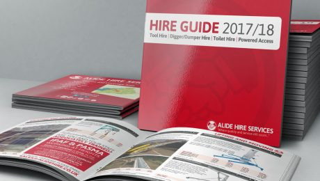 Alide Hire Services catalogue design