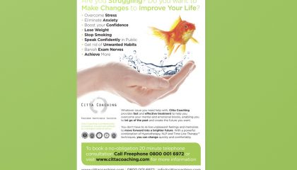 Citta Coaching A5 Leaflet Design
