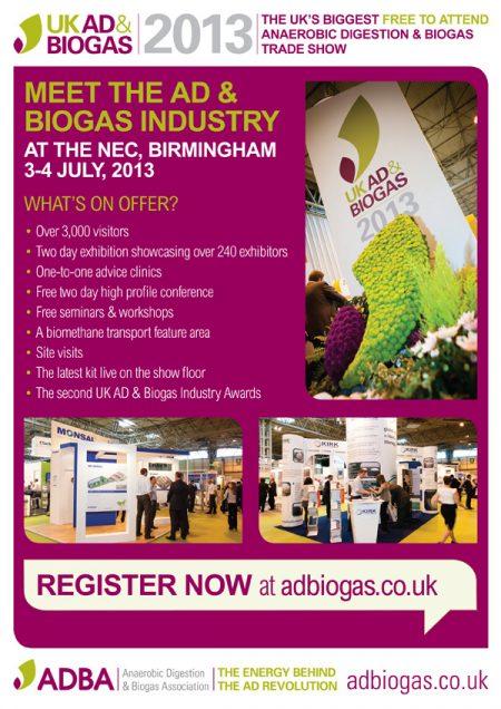 biogas industry leaflet design