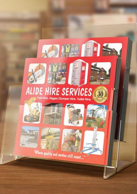 tool hire services brochure design