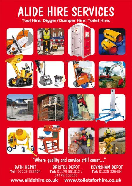 tool hire leaflet design