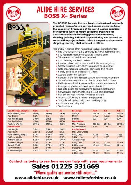 tool hire company leaflet design