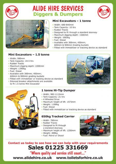 digger hire leaflet design