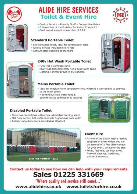 toilet hire leaflet design
