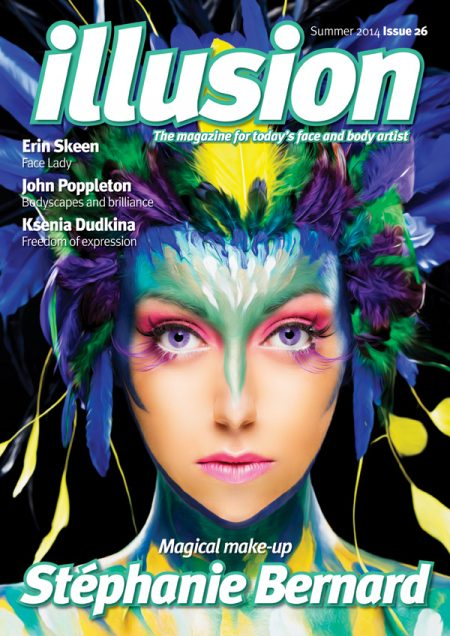 face painting magazine cover design
