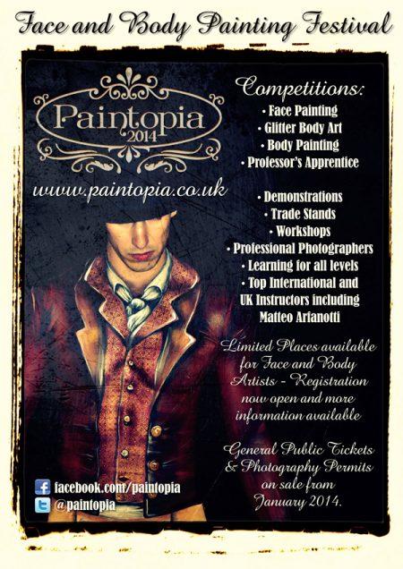 body painting festival leaflet design