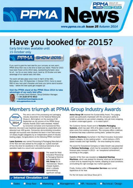 PPMA show newsletter design