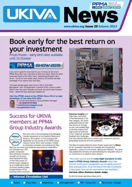 UKIVA newsletter design