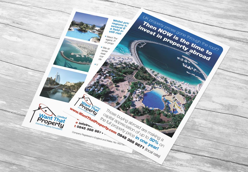 want that property flyer design