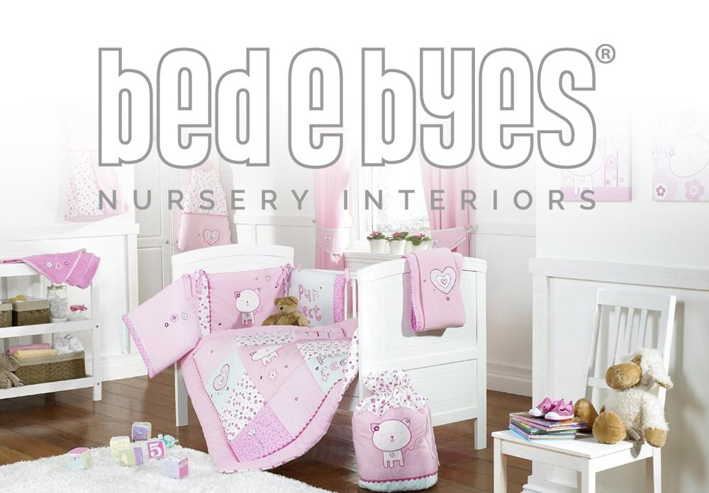 bed e byes nursery interiors logo design