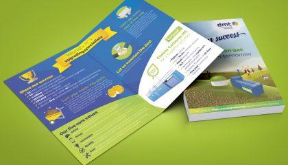 DMT folded brochure design
