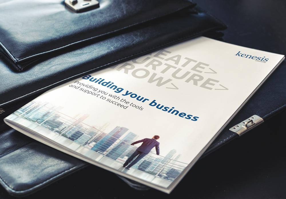 Kenesis Consulting brochure design
