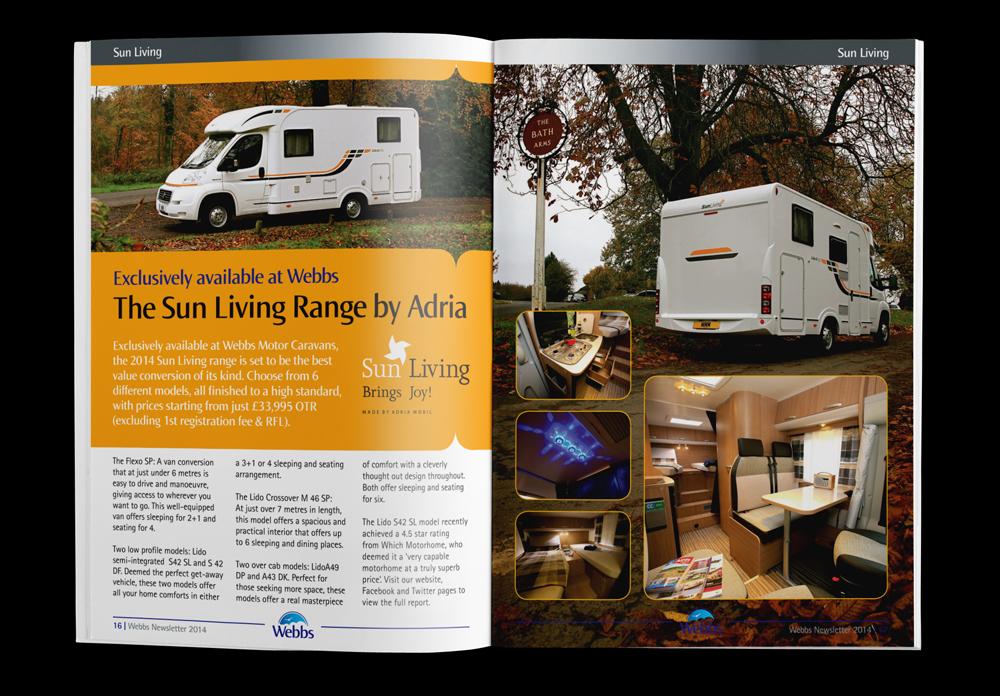 Webbs Motorvans company magazine design
